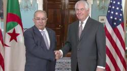 Lamamra s'entretient à Washington avec le secrétaire d'Etat