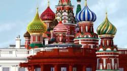 푸틴이 물들인 백악관이 타임지 표지를