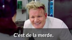 Gordon Ramsay veut vous apprendre à insulter les plats qu'on vous