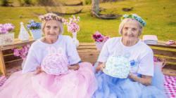 '100세 생일'을 맞이한 쌍둥이가 기념 화보를