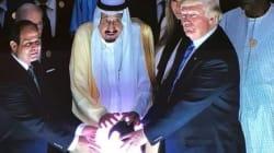 Ο Τραμπ και η φωτεινή σφαίρα. Αυτή η φωτογραφία του Τραμπ ήταν αδύνατον να μην