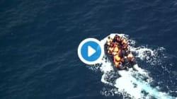Des migrants échappent de justesse à l'incendie de leur embarcation