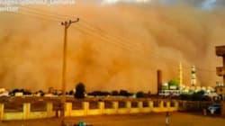 Une tempête de sable a transformé Khartoum en décor