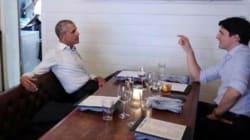 Les images du tête à tête de Justin Trudeau et Barack Obama, les deux rois de la