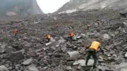 Les images de l'énorme glissement de terrain qui a enseveli plus de 120 personnes en