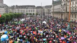 Τουλάχιστον 10.000 άνθρωποι διαδήλωσαν στο Αμβούργο κατά της συνόδου κορυφής της