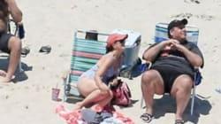 대중에 폐쇄한 텅 빈 해변에서 휴가를 즐기다 들통 난 주지사 크리스티가 포토샵의 인기 소재로