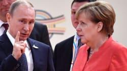 메르켈은 푸틴과의 대화가 맘에 안