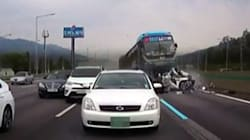 경부고속도로 추돌사고 블랙박스 영상이
