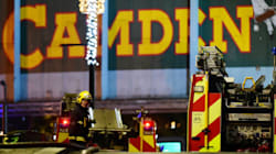 런던 캠든 록 마켓에 대형 화재가 발생했다(사진,