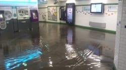 De violents orages à Paris entraînent des inondations dans le métro
