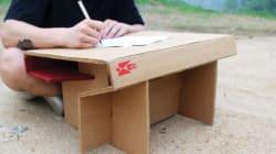 개발도상국 아이들을 위한 '책상'을 만든
