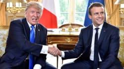Τον γιο του υπερασπίστηκε από το Παρίσι ο Τραμπ. Η άβολη χειραψία με την σύζυγο του