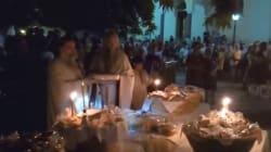 Αγρυπνία προς τιμήν του Παΐσιου στο Αγρίνιο. Προσκύνησαν κάστανο που είχε βράσει ο