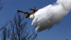 Yπό μερικό έλεγχο οι πυρκαγιές στο Πόρτο Ράφτη και το Σφηνάρι
