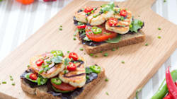Open Grilled Halloumi Sandwich With Balsamic