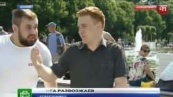 Δημοσιογράφος στη Ρωσία έφαγε μπουνιά σε ζωντανή