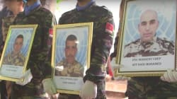 Les trois casques bleus morts en Centrafrique ont été enterrés au