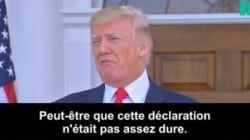 Donald Trump se demande s'il a été assez dur avec sa déclaration sur