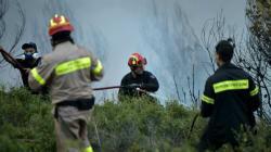 Σε εξέλιξη μεγάλη πυρκαγιά στην Ηλεία χωρίς να απειλεί κατοικημένες περιοχές. Πέρασε ο κίνδυνος για τα