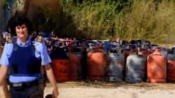 Espagne: 120 bonbonnes de gaz retrouvées pour