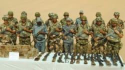 Une cache d'armes et de munitions découvertes