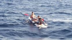 Deux migrants tentent de rejoindre l'Espagne... sur une planche à