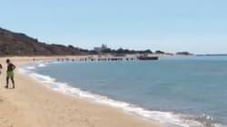 Des migrants tunisiens débarquent en plein jour sur une plage touristique italienne