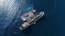 Βίντεο: Πτήση πάνω από το σημείο του ναυαγίου του Αγία Ζώνη ΙΙ στον