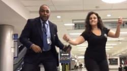 비행기 놓친 여성이 공항서 밤새 댄스파티를