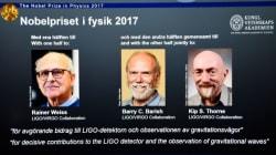 Le Nobel de physique à des Américains pour l'observation des ondes