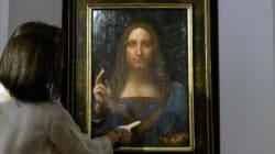 Μυστήριο με την κρυστάλλινη σφαίρα του Χριστού σε πίνακα του Λεονάρντο ντα