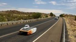 태양광 자동차 경주에서 우승한