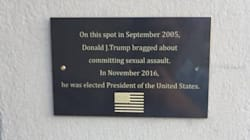 Une plaque commémorative installée là où Trump s'est vanté d'attraper les femmes par le