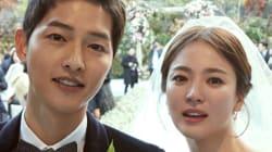 소속사가 공개한 송중기-송혜교의 결혼식