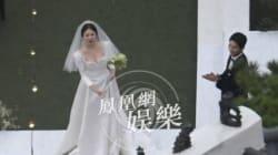 송송커플 결혼식장에 드론 띄운 중국 매체
