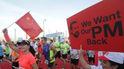 Au marathon de Beyrouth, les Libanais affichent leur soutien à