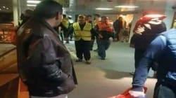 Arrivée à Oran d'un groupe de passagers du car-ferry Tariq Ibn