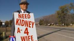 아내의 신장 기증을 위해 매일 거리를