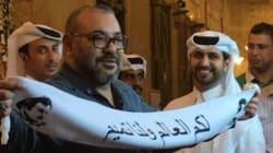 Photo du roi à Doha: Le gouvernement qatari