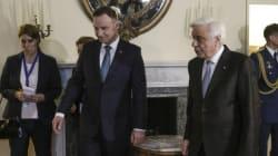 Παυλόπουλος στη συνάντηση με Ντούντα:«Είμαστε πραγματικοί Ευρωπαίοι και δεν ταξιδεύουμε με σημαίες
