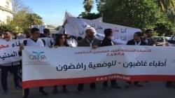 Des médecins en colère organisent un sit-in à