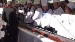 Η Καρδίτσα κατέκτησε το ρεκόρ Γκίνες για τη μεγαλύτερη νουγκατίνα σοκολάτα στον