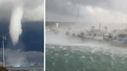 Une impressionnante trombe marine s'est abattue sur un port italien