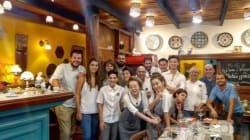 스페인에서 문을 열 '윤식당 2'의 내부가
