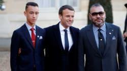 Le roi Mohammed VI et le prince Moulay El Hassan à l'Élysée pour le sommet mondial sur le climat