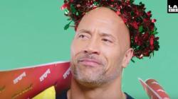 드웨인 존슨이 '인간 크리스마스트리'로