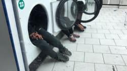 Une photo de mineurs marocains se protégeant du froid dans des tambours de sèche-linge choque la