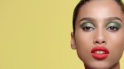 La mannequin d'origine marocaine Imaan Hammam égérie de la nouvelle campagne maquillage de