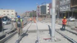 Sétif: les travaux du tramway en